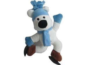 Iconic Pet Christmas Stuffed Skating Polar Bear Plush Squeaky Holiday Pet (Dog) Toy - Iconic Pet - Dropship Direct Wholesale