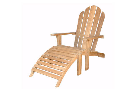 AD036 Adirondack with Ottoman - Anderson Teak - Dropship Direct Wholesale