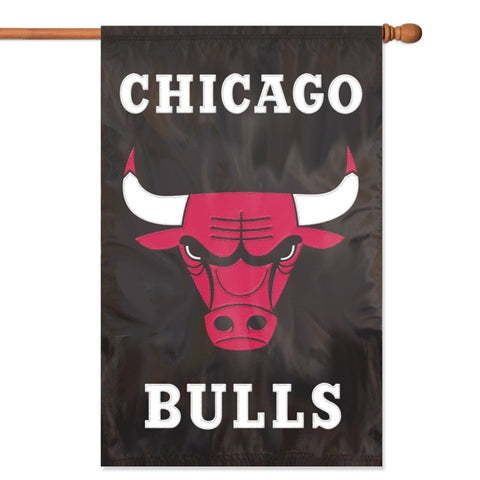 NBA Chicago Bulls Applique Banner Flag - Party Animal - Dropship Direct Wholesale