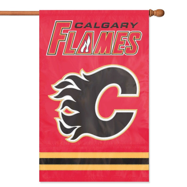 NHL Calgary Flames Applique Banner Flag - Party Animal - Dropship Direct Wholesale