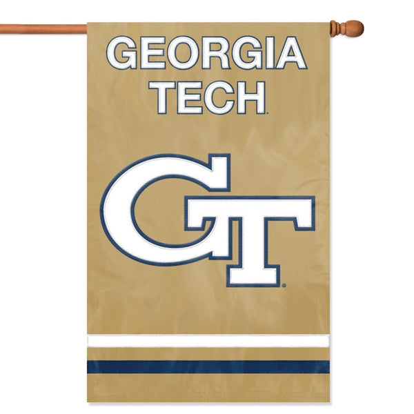 NCAA Georgia Tech Yellow Jackets Applique Banner Flag - Party Animal - Dropship Direct Wholesale