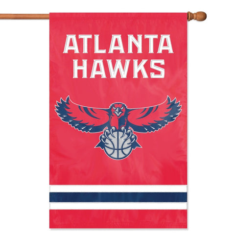 NBA Atlanta Hawks Applique Banner Flag - Party Animal - Dropship Direct Wholesale