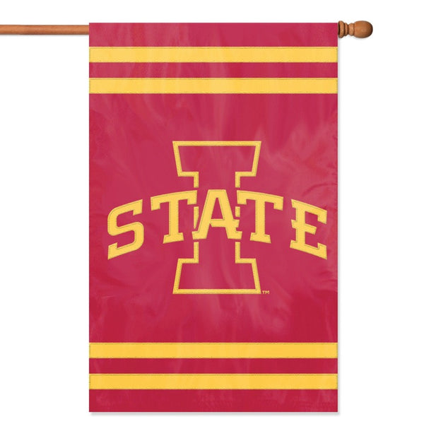 NCAA Iowa State Cyclones Applique Banner Flag - Party Animal - Dropship Direct Wholesale