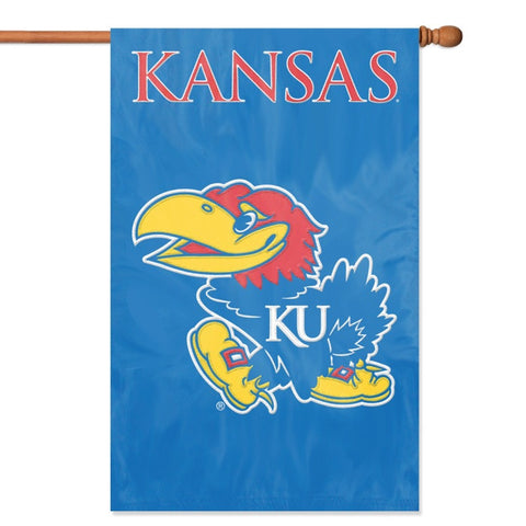 NCAA Kansas Jayhawks Applique Banner Flag - Party Animal - Dropship Direct Wholesale