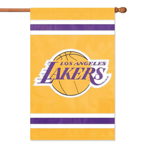NBA Los Angeles Lakers Applique Banner Flag - Party Animal - Dropship Direct Wholesale