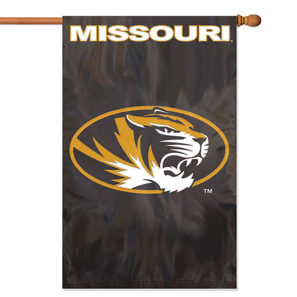 NCAA Missouri Tigers Applique Banner Flag - Party Animal - Dropship Direct Wholesale