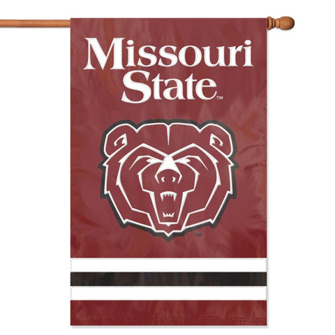 NCAA Missouri State Bears Applique Banner Flag - Party Animal - Dropship Direct Wholesale