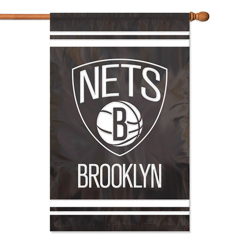 NBA Brooklyn Nets Applique Banner Flag - Party Animal - Dropship Direct Wholesale
