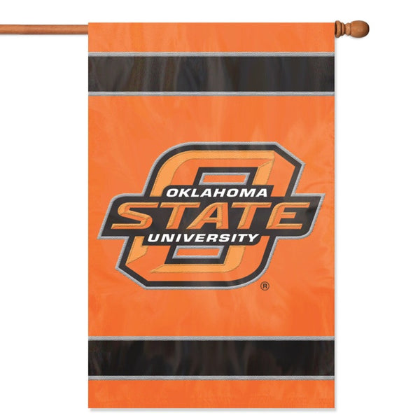 NCAA Oklahoma State Cowboys Applique Banner Flag - Party Animal - Dropship Direct Wholesale