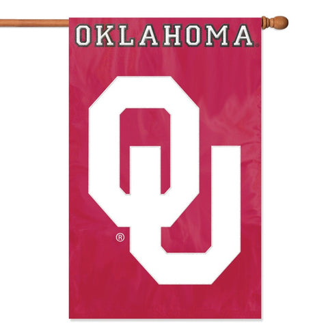 NCAA Oklahoma Sooners Applique Banner Flag - Party Animal - Dropship Direct Wholesale