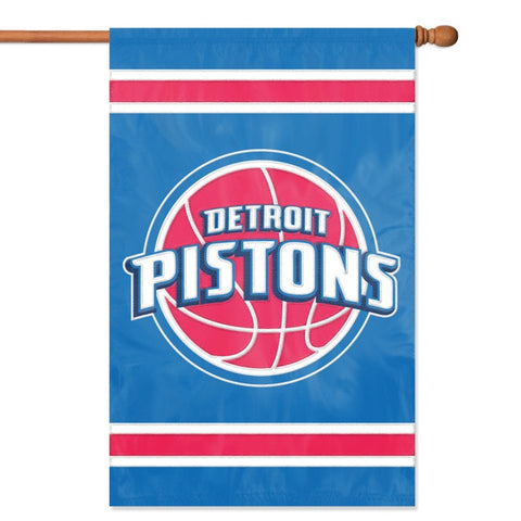 NBA Detroit Pistons Applique Banner Flag - Party Animal - Dropship Direct Wholesale
