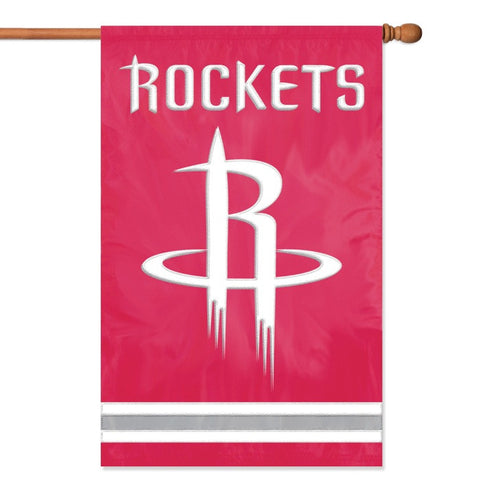 NBA Houston Rockets Applique Banner Flag - Party Animal - Dropship Direct Wholesale