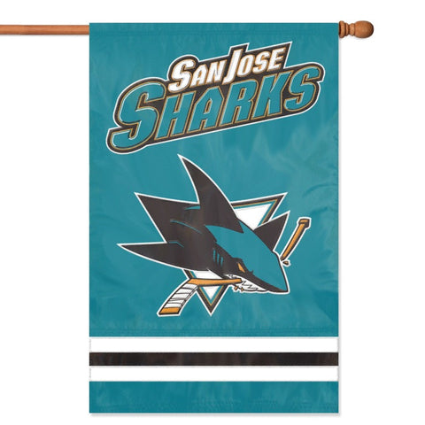 NHL San Jose Sharks Applique Banner Flag - Party Animal - Dropship Direct Wholesale