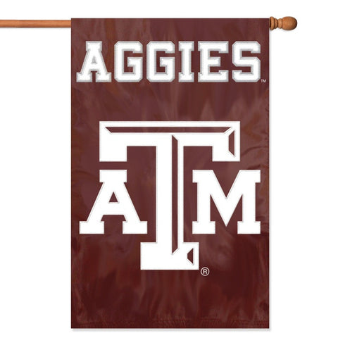 NCAA Texas A & M Aggies Applique Banner Flag - Party Animal - Dropship Direct Wholesale