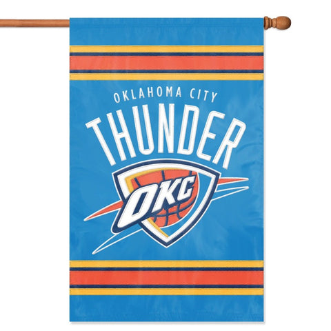 NBA Oklahoma City Thunder Applique Banner Flag - Party Animal - Dropship Direct Wholesale