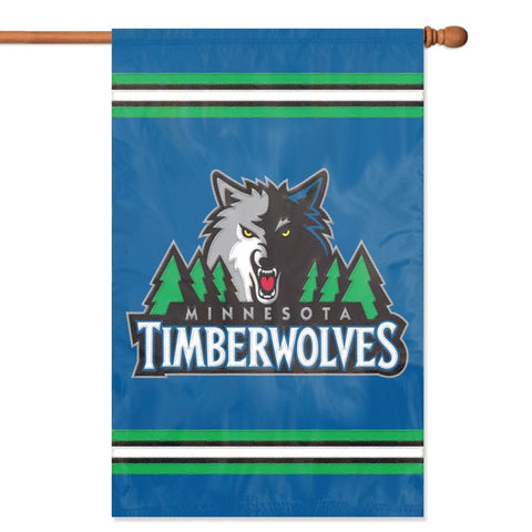 NBA Minnesota Timberwolves Applique Banner Flag - Party Animal - Dropship Direct Wholesale