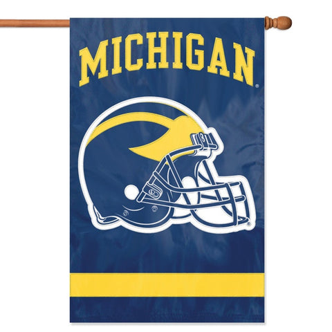 NCAA Michigan Wolverines Applique Banner Flag - Party Animal - Dropship Direct Wholesale