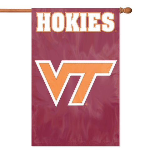NCAA Virginia Tech Hokies Applique Banner Flag - Party Animal - Dropship Direct Wholesale