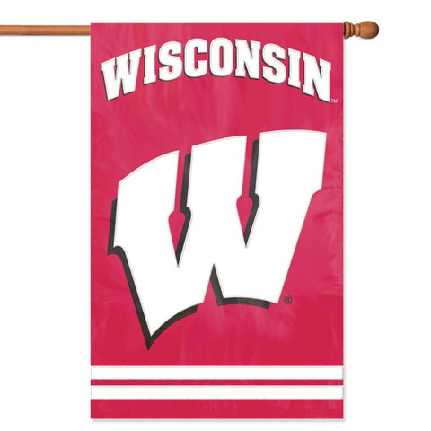 NCAA Wisconsin Badgers Applique Banner Flag - Party Animal - Dropship Direct Wholesale