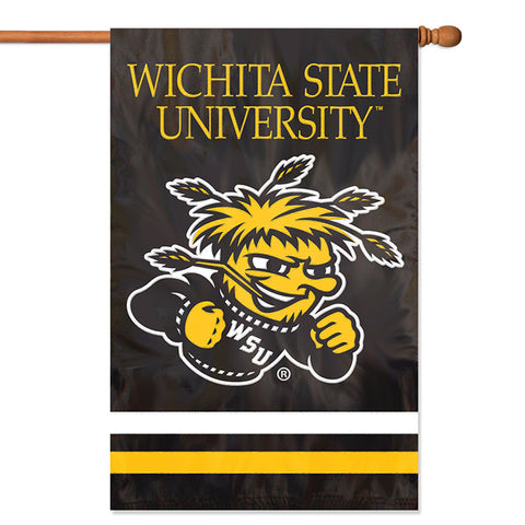 NCAA Wichita State Shockers Applique Banner Flag - Party Animal - Dropship Direct Wholesale