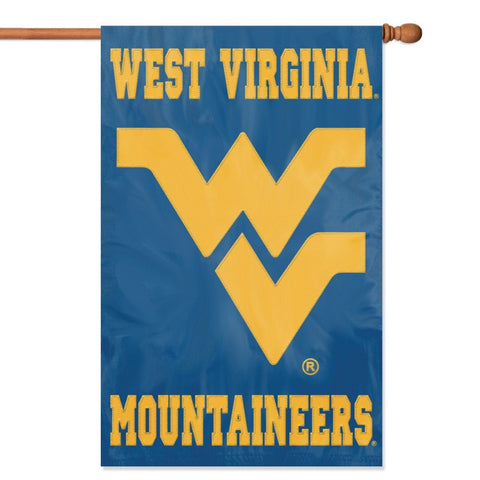 NCAA West Virginia Mountaineers Applique Banner Flag - Party Animal - Dropship Direct Wholesale