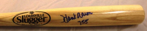 Hank Aaron Autographed Blonde Louisville Slugger Bat with 755 HRs Incription - MLBPAA - Dropship Direct Wholesale