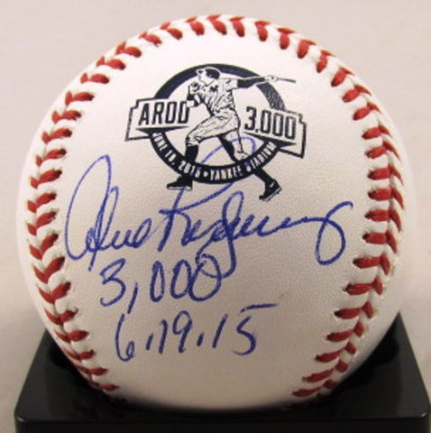 Alex Rodriguez Autographed 3000th Hit Logo Baseball with 300th Hit 6/19/15 Inscription - MLBPAA - Dropship Direct Wholesale