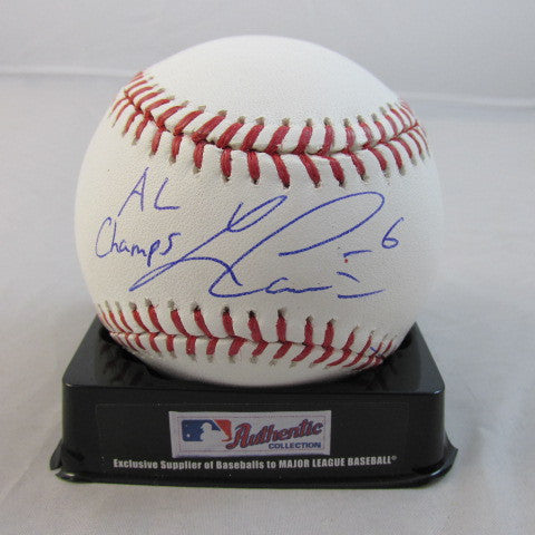 Lorenzo Cain Autographed Official MLB Baseball with 2014 AL Champs Inscription - MLBPAA - Dropship Direct Wholesale