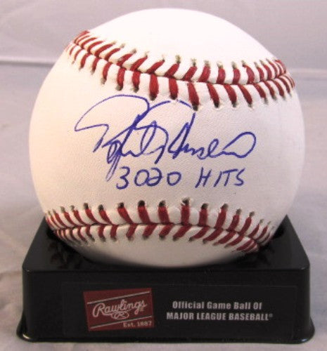 Rafael Palmeiro Autographed Official MLB Baseball with 3020 Hits Inscription - MLBPAA - Dropship Direct Wholesale