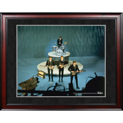 The Beatles 1964 On Stage Color Shot 8x10 Framed Photo
