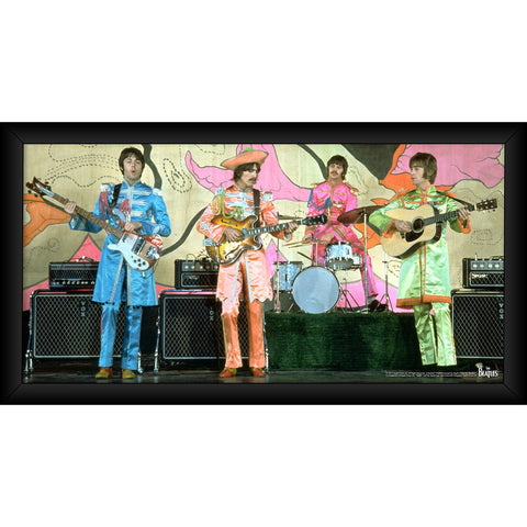 The Beatles 1967 Sgt Pepper Lonely Hearts Costumes 10x20 Framed Photo