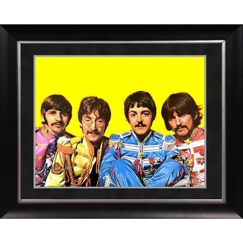The Beatles Sgt Pepper Lonely Hearts Costumes 11x14 Framed Photo