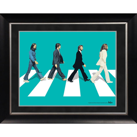 The Beatles Abby Road Blue Background 11x14 Framed Photo