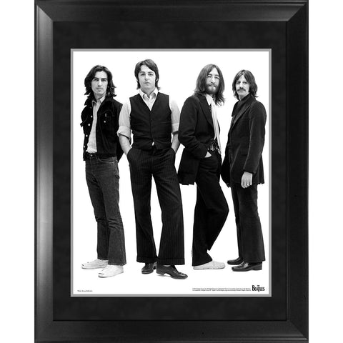 The Beatles Through the Years 1969  Group Pose White Background Framed 16x20 Photo