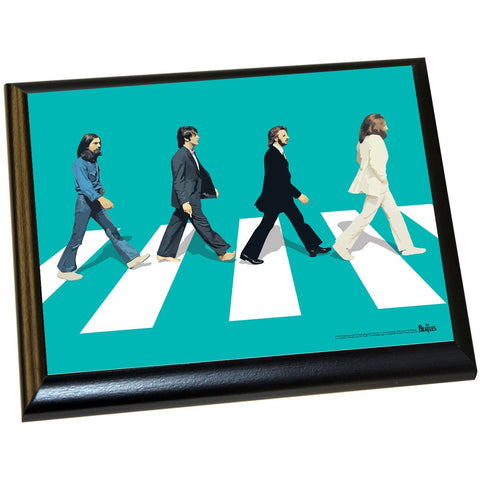 The Beatles Abby Road Blue Background 8x10 Plaque