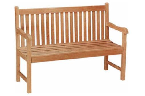 BH004S Straight Back 2 Seat Bench - Anderson Teak - Dropship Direct Wholesale