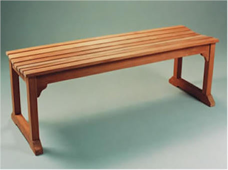BH005B 63-Inch Backless Bench With Boot Legs - Anderson Teak - Dropship Direct Wholesale