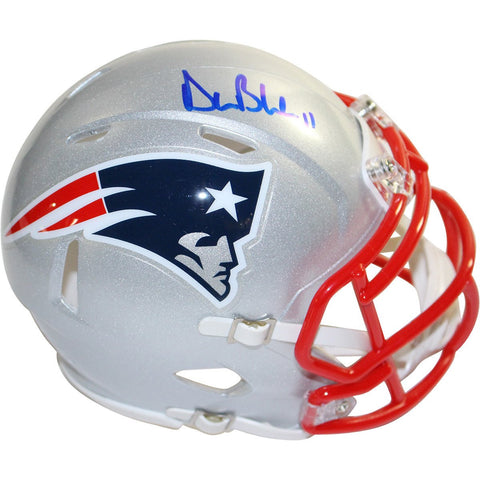 Drew Bledsoe Signed New England Patriots Riddell Speed Mini Helmet