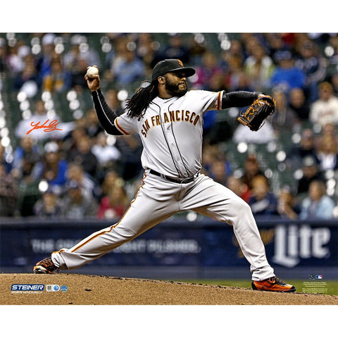 Johnny Cueto Signed San Francisco Giants Pitching 16x20 Photo MLB Auth