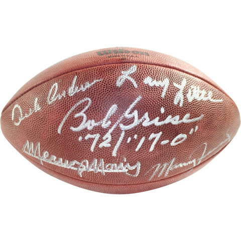 1972 Dolphins 5 Signature NFL Duke Football signed and Inscribe by Griese/Fernandez/Morris/Little/Anderson