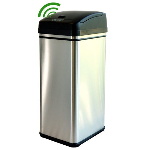 iTouchless Trash Can 13 Gallon Stainless Steel with infrared sensor - iTouchless - Dropship Direct Wholesale