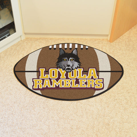 Loyola University Football Rug 20.5x32.5 - FANMATS - Dropship Direct Wholesale