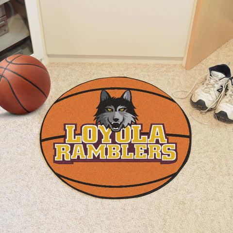 Loyola University Chicago Basketball Mat 27 diameter - FANMATS - Dropship Direct Wholesale