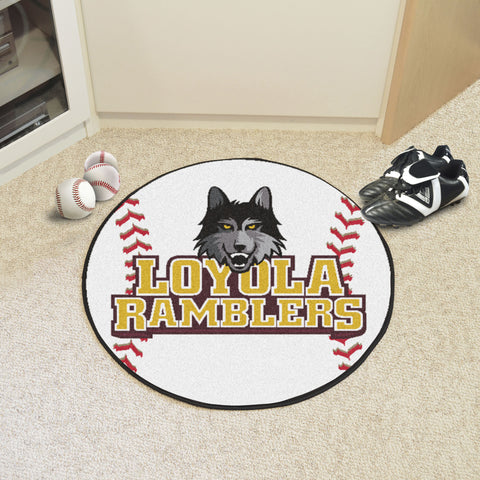 Loyola University Chicago Baseball Mat 27 diameter - FANMATS - Dropship Direct Wholesale