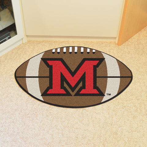 Miami University - OH Football Rug 20.5x32.5 - FANMATS - Dropship Direct Wholesale
