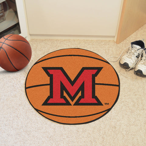 Miami University - OH Basketball Mat 27 diameter - FANMATS - Dropship Direct Wholesale