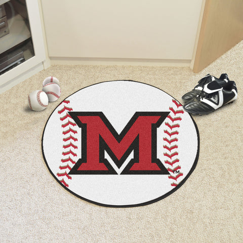 Miami University - OH Baseball Mat 27 diameter - FANMATS - Dropship Direct Wholesale