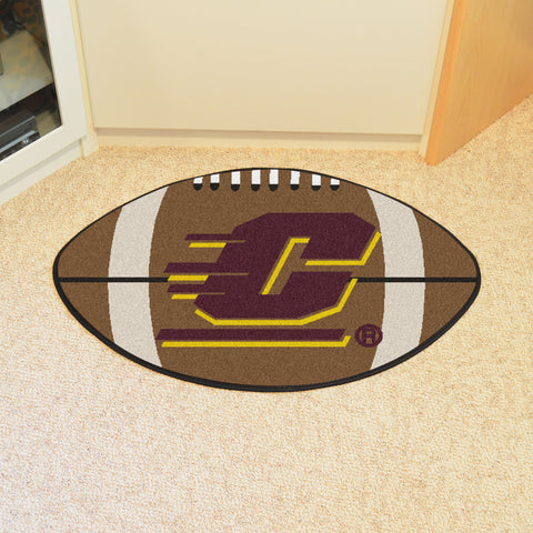 Central Michigan University Football Rug 20.5x32.5 - FANMATS - Dropship Direct Wholesale