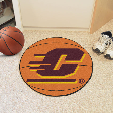 Central Michigan University Basketball Mat 27 diameter - FANMATS - Dropship Direct Wholesale