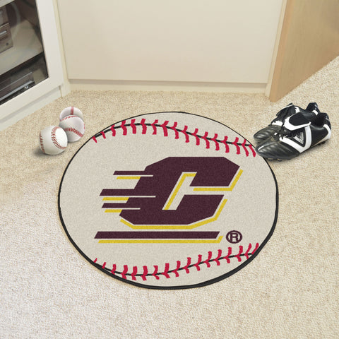 Central Michigan University Baseball Mat 27 diameter - FANMATS - Dropship Direct Wholesale